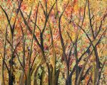 forest artwork - forest golds by bob ross