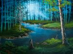 bob ross forest river painting