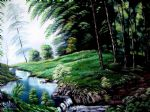 bob ross art - green forest by bob ross
