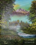 bob ross impressions in oil painting