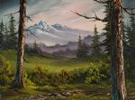 meadow view by bob ross painting