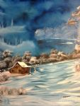 misty winter nick by bob ross painting