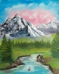 bob ross mountain stream 86094 painting