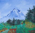 bob ross original paintings - my mountain wonder by bob ross