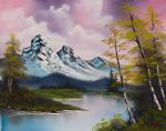 pastel fall by bob ross painting
