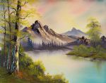 pastel skies by bob ross painting