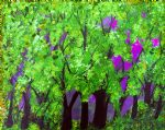 forest artwork - purple plum fuschia forest by bob ross