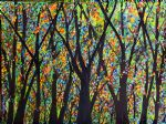 forest artwork - rainbow forest by bob ross
