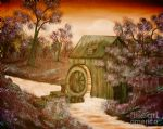 bob ross rosss watermill painting
