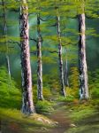 bob ross silent forest 86135 painting