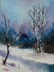 snow fall magic ii by bob ross painting
