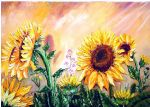 bob ross sunflowers 86144 posters