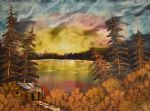 sunset oil paintings - sunset by bob ross