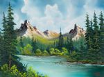 bob ross twin peaks river painting
