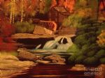 bob ross west virginia grist mill 86154 posters