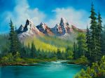 bob ross wild country 86155 posters