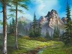 bob ross original paintings - wilderness trail by bob ross