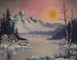 bob ross winter frost 86160 posters