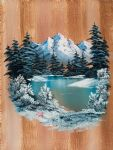 winter acrylic paintings - winter paradise by bob ross