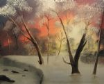 winters kiss by bob ross painting
