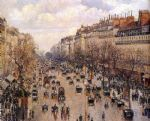 camille pissarro acrylic paintings - boulevard montmarte by camille pissarro