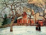 camille pissarro acrylic paintings - chataigniers louveciennes by camille pissarro