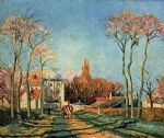 tree acrylic paintings - entree du village de voisins 1872 by camille pissarro