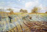 camille pissarro acrylic paintings - gelee blanche by camille pissarro