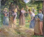 camille pissarro acrylic paintings - hay harvest at eragny by camille pissarro