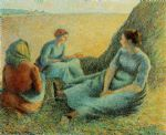 camille pissarro acrylic paintings - haymakers resting by camille pissarro