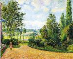 camille pissarro acrylic paintings - jardin mirbeau aux damps by camille pissarro