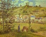 camille pissarro landscape at chaponval paintings
