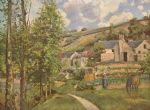 paysage pres de pontoise 1874 by camille pissarro acrylic paintings