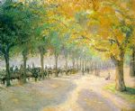 camille pissarro acrylic paintings - pissarro hyde park by camille pissarro