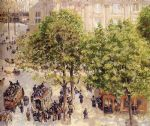camille pissarro acrylic paintings - place du theatre francais by camille pissarro
