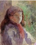 camille pissarro art - portrait of the artist s son ludovic by camille pissarro