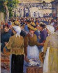 poultry market at gisors by camille pissarro prints