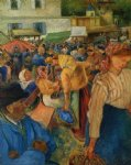 poultry market pontoise ii by camille pissarro prints