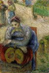 pumpkin merchant by camille pissarro painting