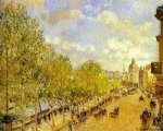 camille pissarro quai malaquais in the afternoon sunshine painting