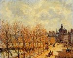 camille pissarro quai malaquais morning sunny weather painting
