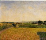 camille pissarro art - railroad to dieppe by camille pissarro