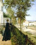 camille pissarro road from versailles to louveciennes painting
