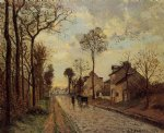 camille pissarro road in louveciennes painting