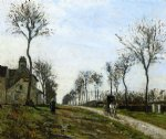 camille pissarro road to louveciennes painting