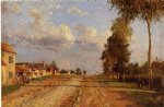 camille pissarro road to racquencourt painting