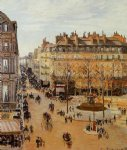 camille pissarro rue saint honore sun effect afternoon paintings
