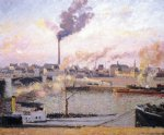 camille pissarro saint sever rouen morning five o clock paintings