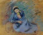 camille pissarro seated peasant woman crunching an apple art