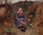 camille pissarro seated peasant woman ii art